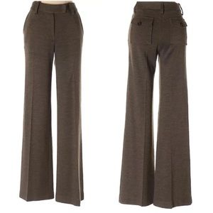 Tory Burch Brown Wool Knit Bootcut Office Pants